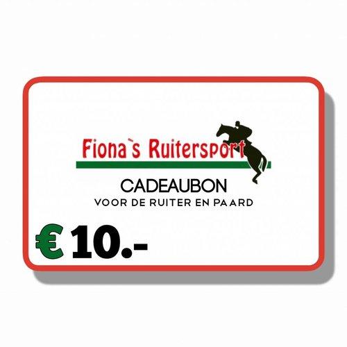 Cadeaubon T.w.v €10.- euro