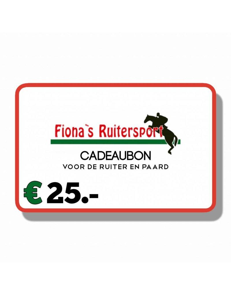 Cadeaubon T.w.v €25.- euro