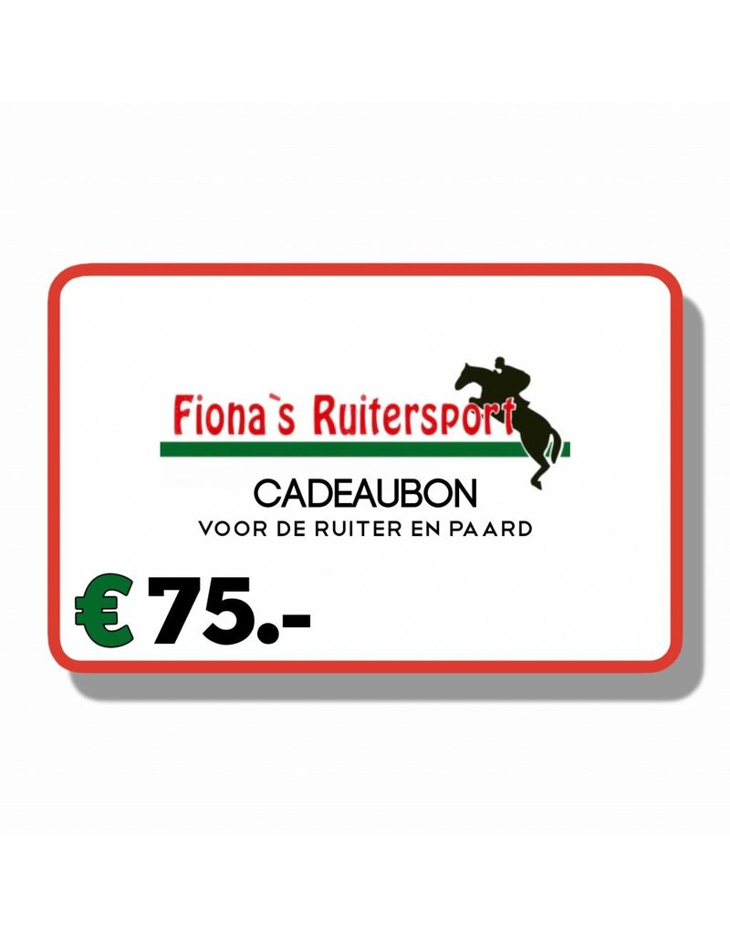 Cadeaubon T.w.v €75.- euro