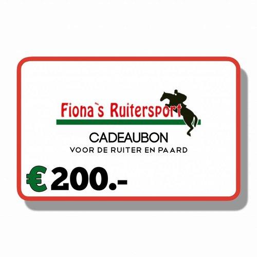 Cadeaubon €200.-