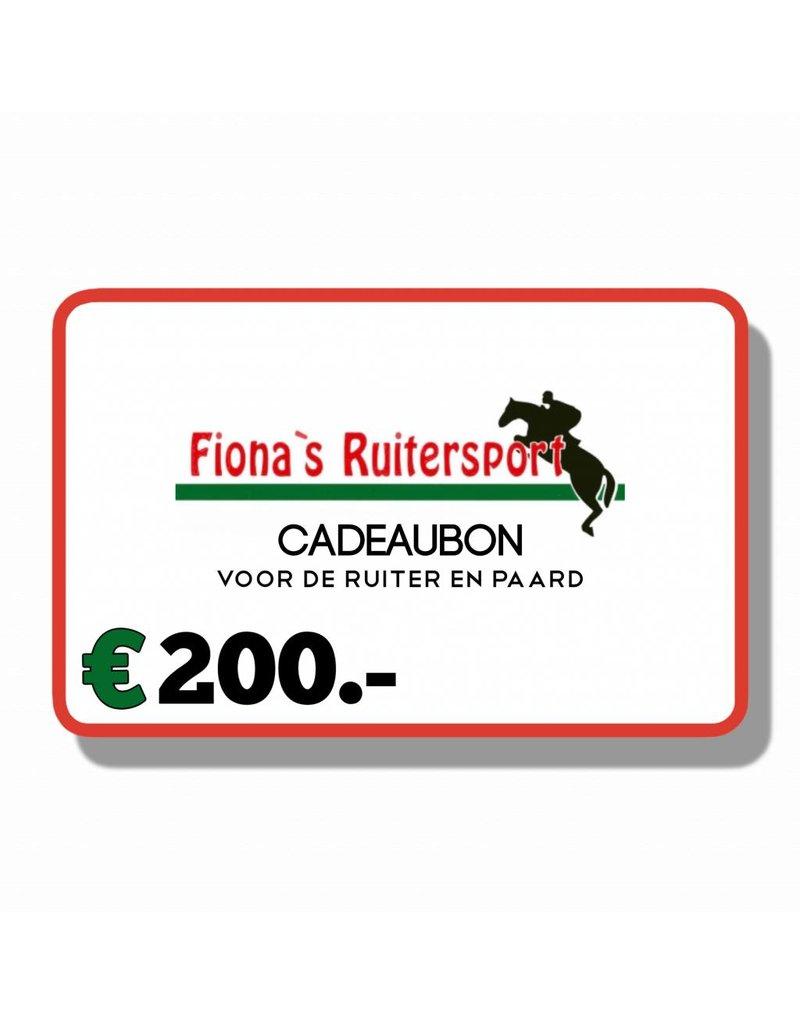 Cadeaubon T.w.v €200.- euro