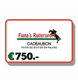 Cadeaubon €750.-