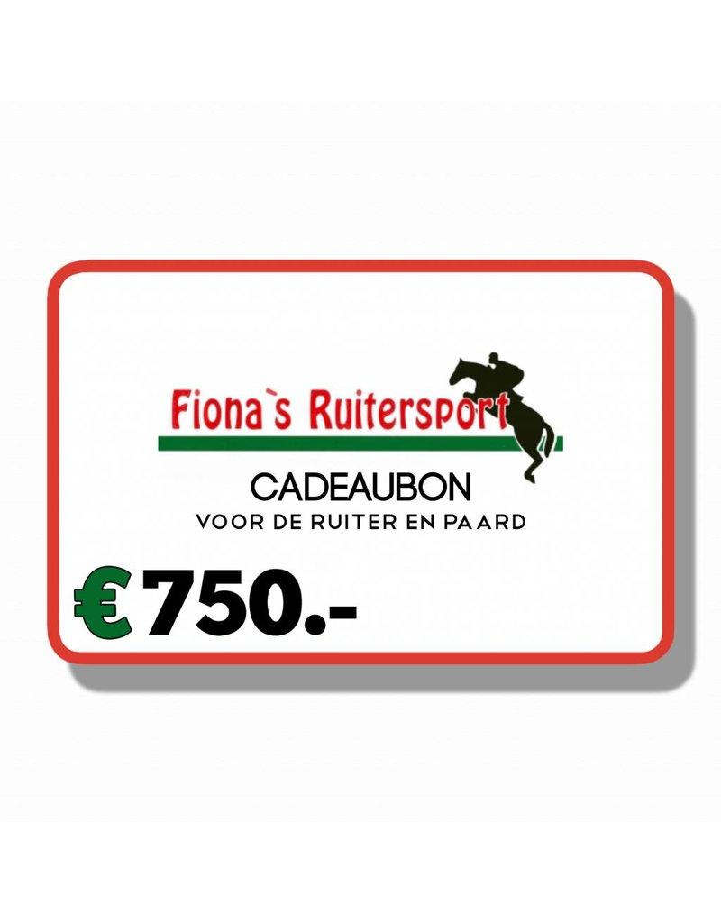 Cadeaubon T.w.v €750.- euro