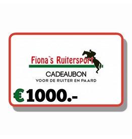 Cadeaubon €1000.-