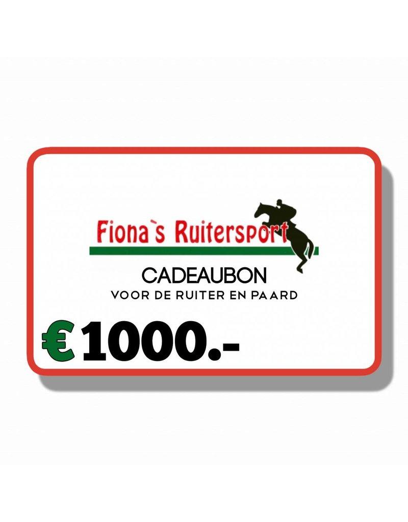 Cadeaubon T.w.v €1000.- euro