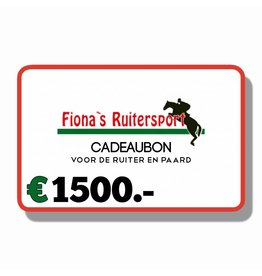 Cadeaubon €1500.-