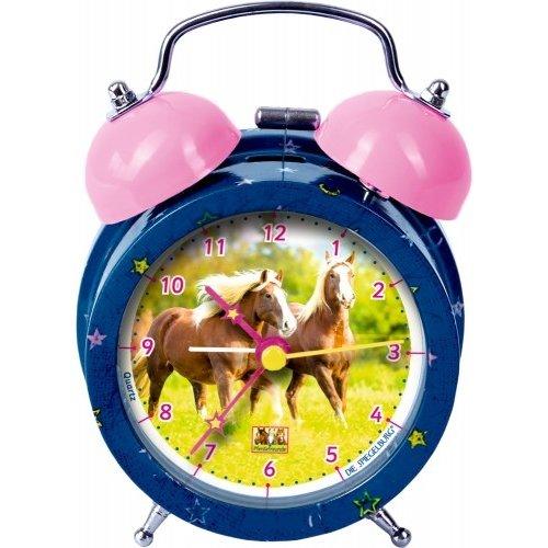 Alarmwekker blauw metaal Paardenvriend