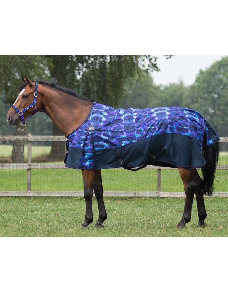 QHP Deken Deep Sea turnout collection fleece