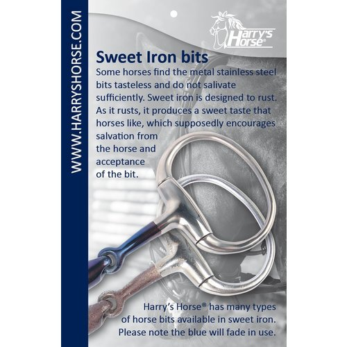 Harry's Horse Watertrens dubbelgebroken Sweet Iron 20mm