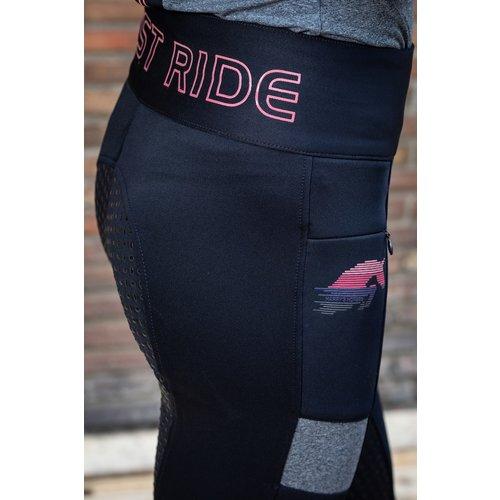 Harry's Horse Rijbroek Equitights Just Ride Pink Full Grip