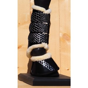 HB Tranings boots Croco-silver