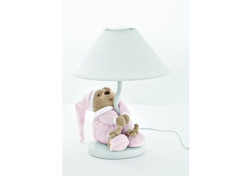 Nanan lampje met beer puccio - roze