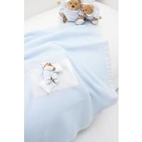 deken fleece voor kinderwagen puccio - blauw