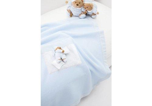 Nanan deken fleece voor kinderwagen puccio - blauw