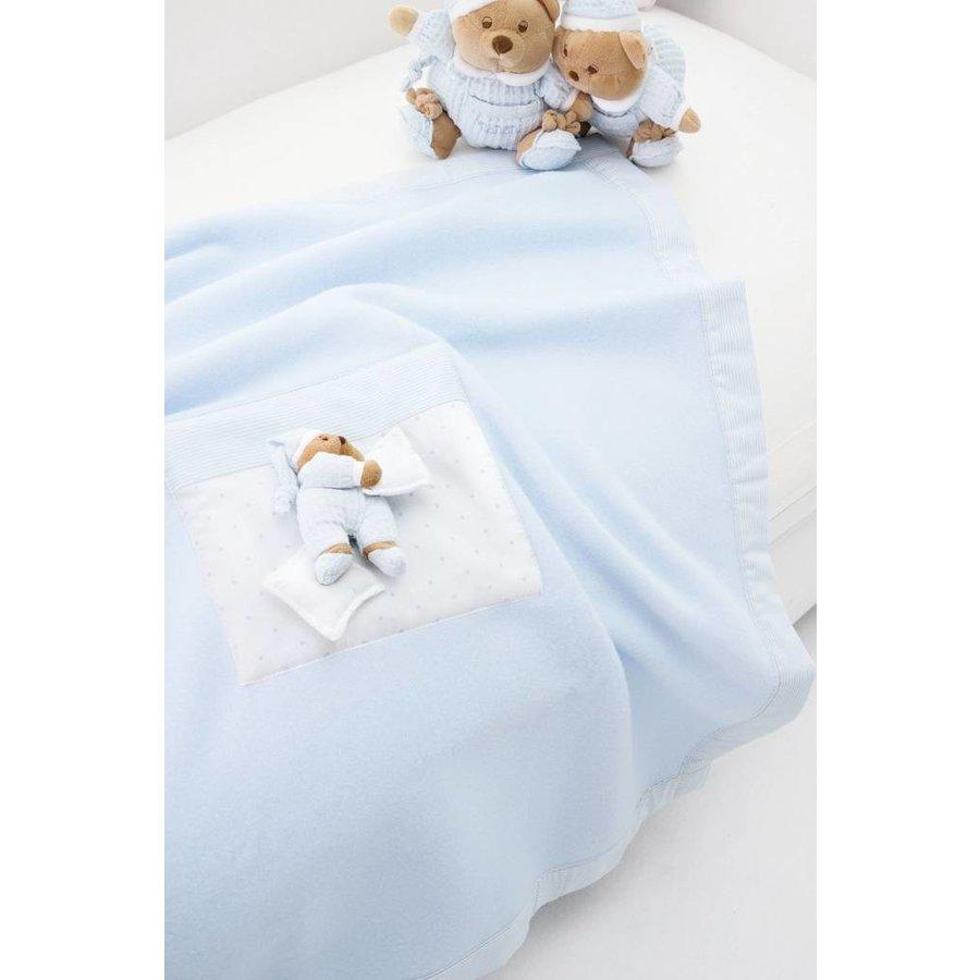 deken fleece voor kinderwagen puccio - blauw-1