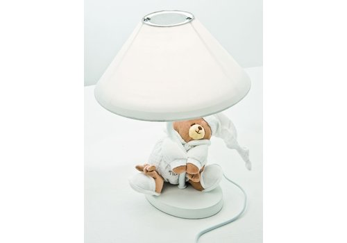 Nanan lampje met beer tato - wit