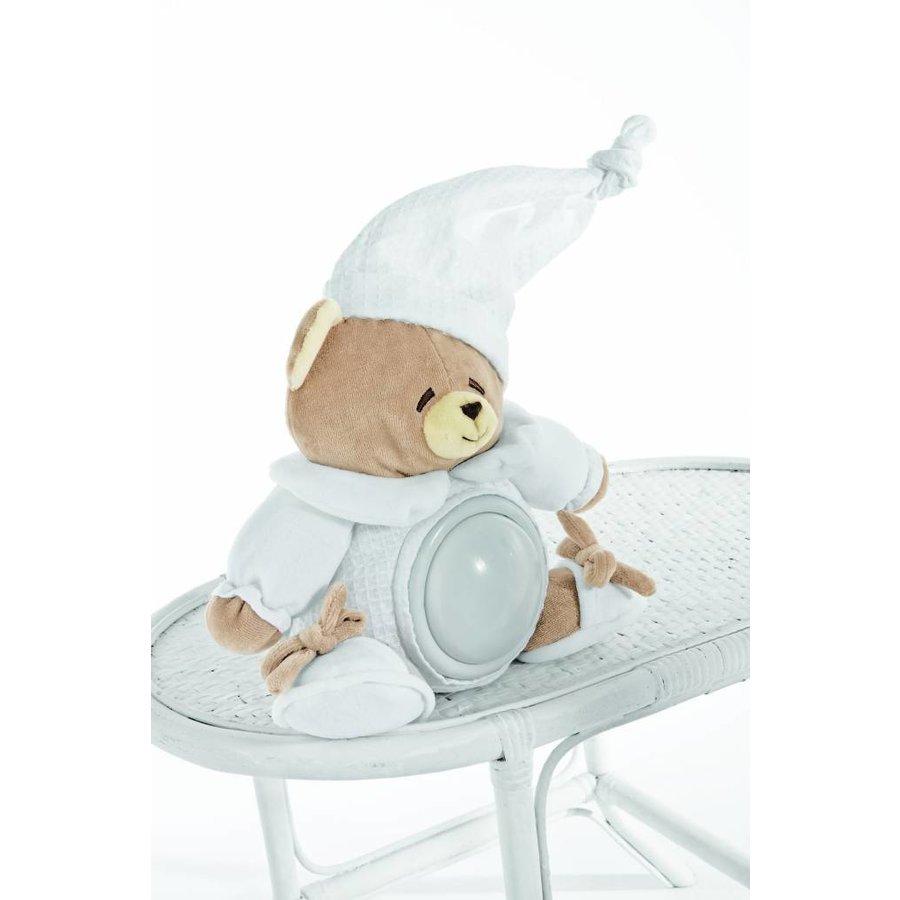 pluche beer met lampje tato - wit-1