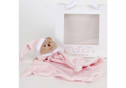 Nanan knuffeldoekje puccio - roze