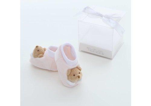 Nanan baby slofjes puccio - roze