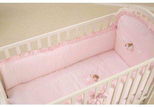 Nanan stootrand laag set 4pcs puccio - roze