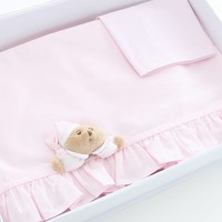 lakenset kinderwagen 3pcs puccio - roze