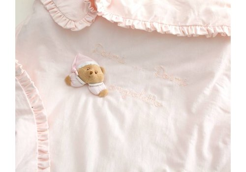 Nanan dekentje voor kinderwagen puccio  - roze