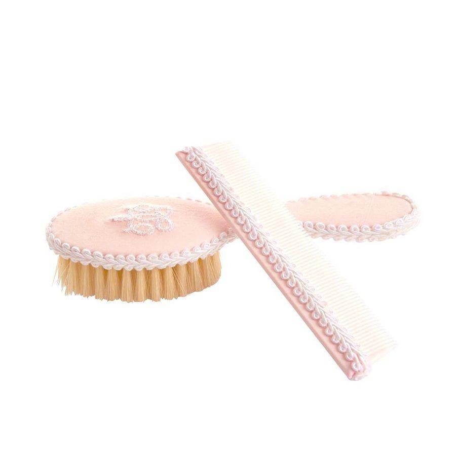 borstel en kam set -  Royal Pink-1