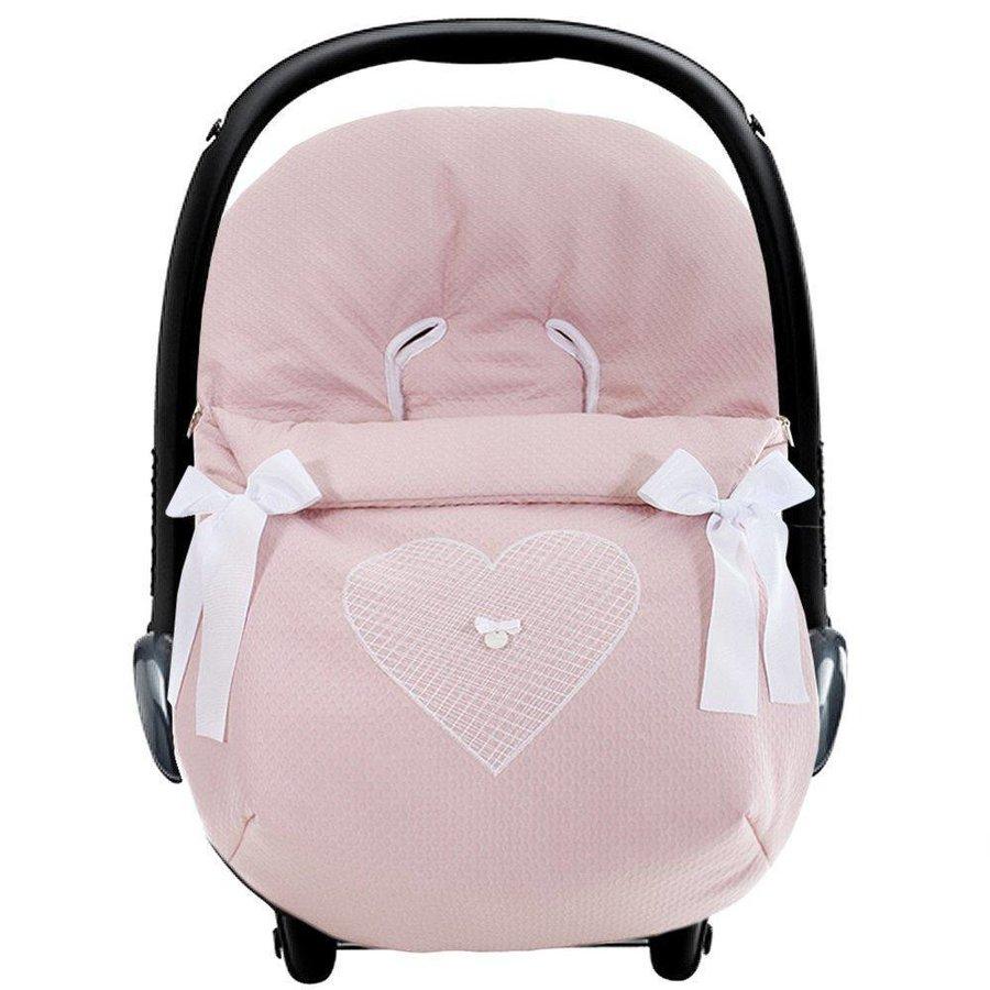 autostoel voetenzak - oud roze-1