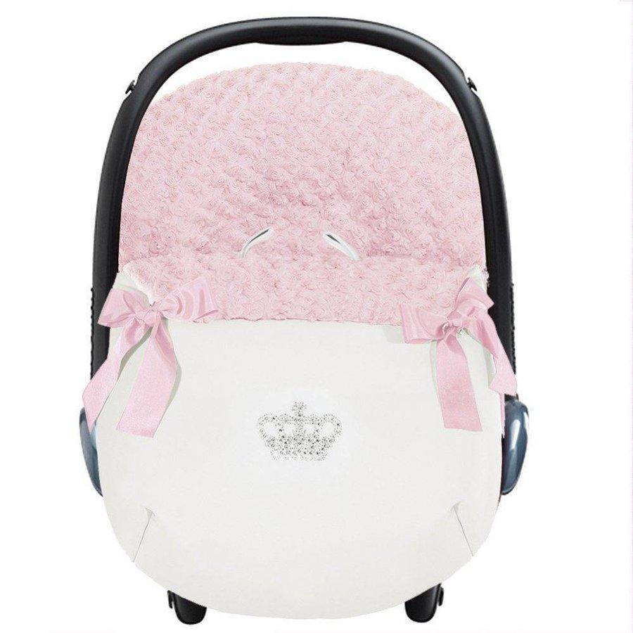 autostoel voetenzak - roze-1