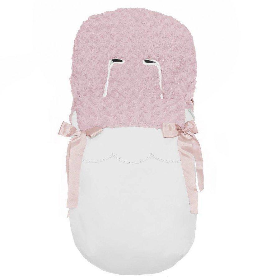 buggy voetenzak - wit/roze-1
