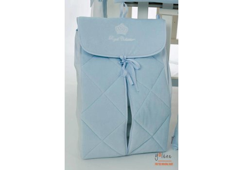 Royal Baby Collection velours opbergzak voor luiers - blauw