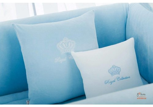 Royal Baby Collection velours sierkussen groot - blauw