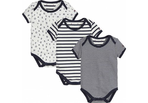 Tommy Hilfiger set van 3 rompers in cadeaudoos