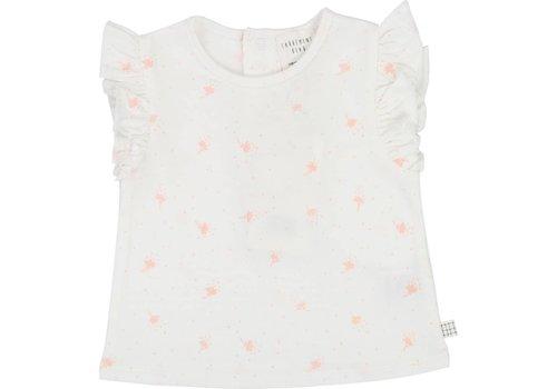 Carrement Beau t-shirt met roesel mouw