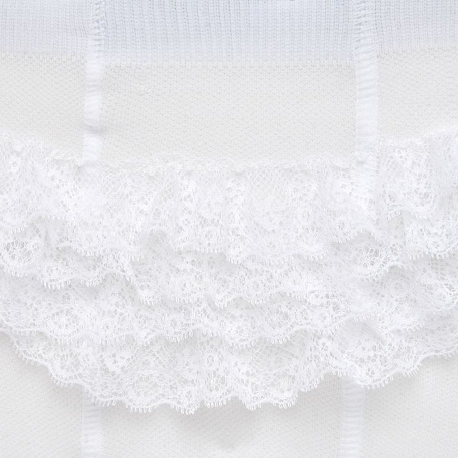 maillot met ruches - wit-3
