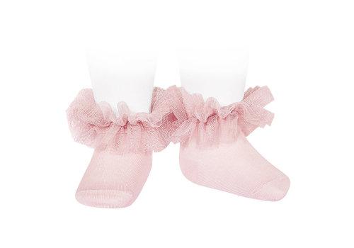 Cóndor babysokjes met tule - roze