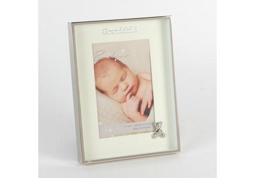 Fotolijst verzilverd met teddy kleinkind