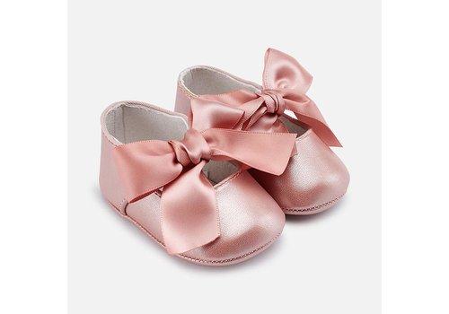 Mayoral schoentjes met strik - roze