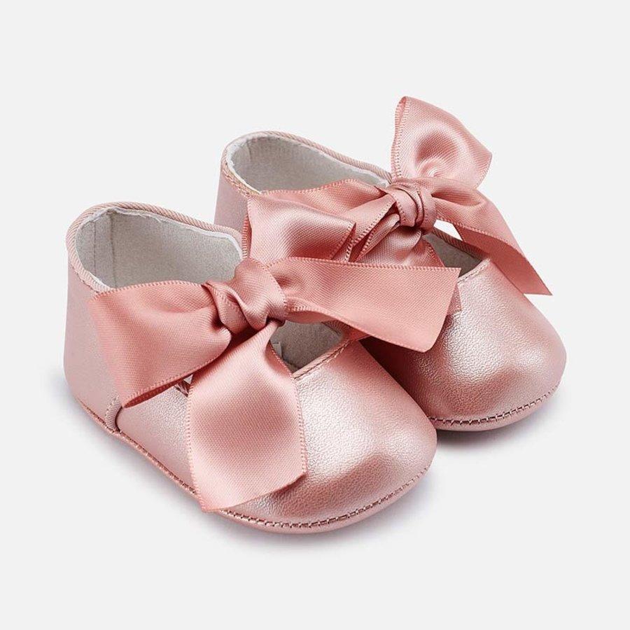schoentjes met strik - roze-1