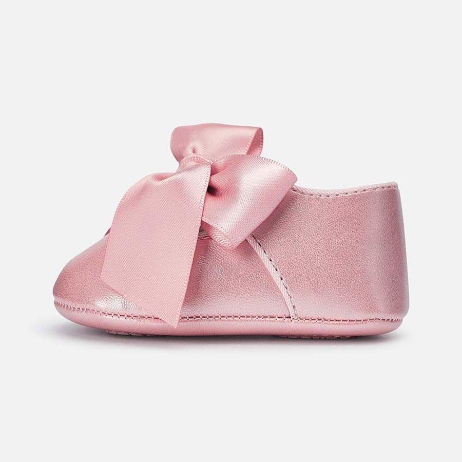 schoentjes met strik - roze-3
