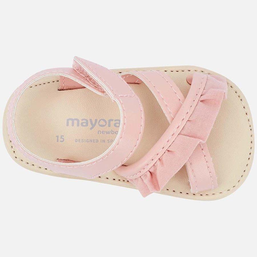 sandaal met ruches - roze-3