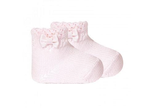 Cóndor sokje met strik - roze