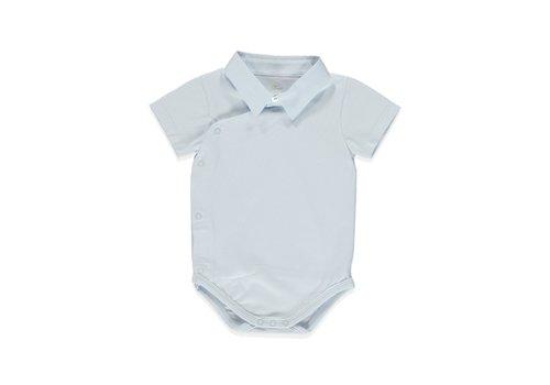 Pureté du Bebe romper met overhemdkraag - blauw