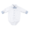 Natini romper overhemd - wit/blauw