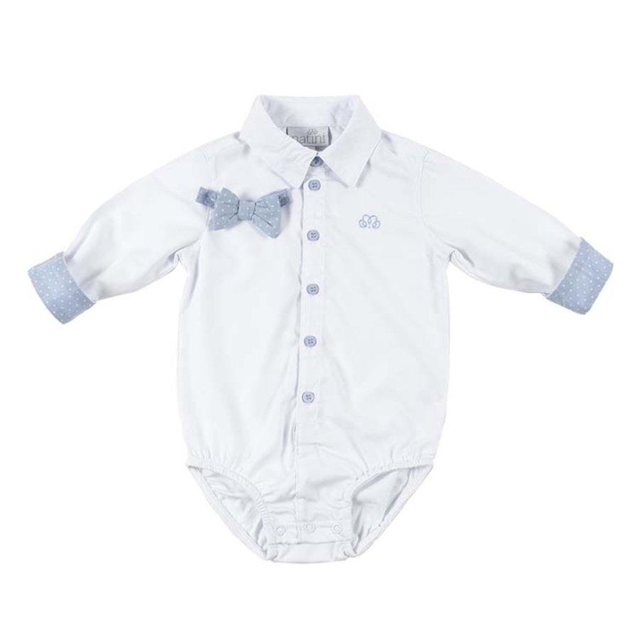romper overhemd - wit/blauw-2