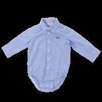romper overhemd - blauw geblokt