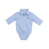 romper overhemd - streepje blauw