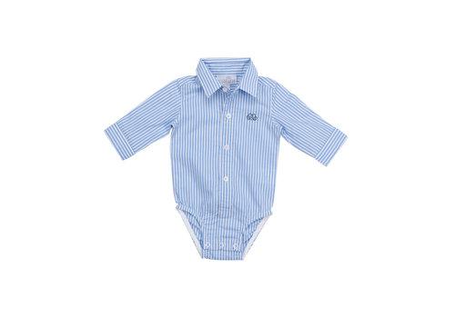 Natini romper overhemd - streepje blauw