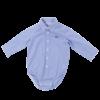 Natini romper overhemd - geblokt blauw