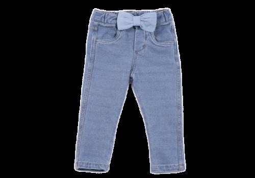 Natini spijkerbroek stretch met strik